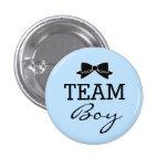 Team Boy Baby Shower Blue and Black 3 Cm Round Badge