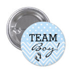 Team Boy Blue Baby Shower 3 Cm Round Badge