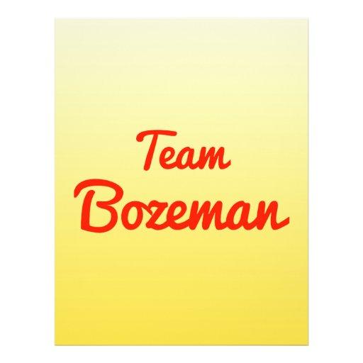 Team Bozeman Flyer Design