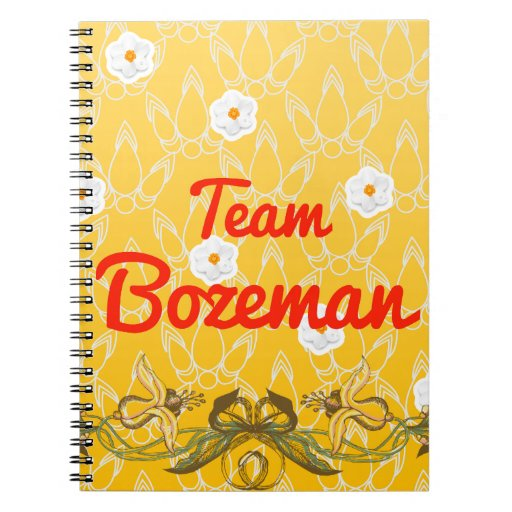 Team Bozeman Spiral Note Books