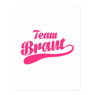 Team Braut Postcard