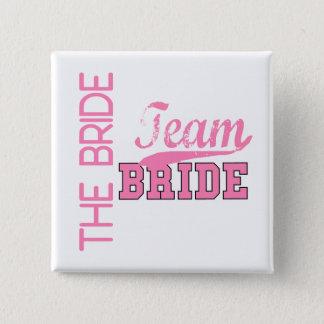 Team Bride 1 BRIDE 15 Cm Square Badge