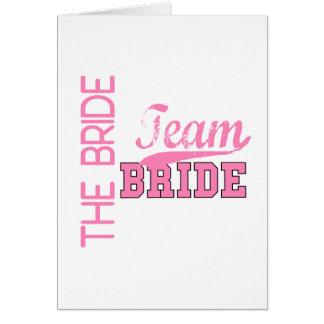 Team Bride 1 BRIDE Greeting Card