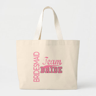 Team Bride 1 BRIDESMAID Large Tote Bag