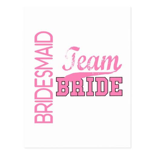 Team Bride 1 BRIDESMAID Post Cards