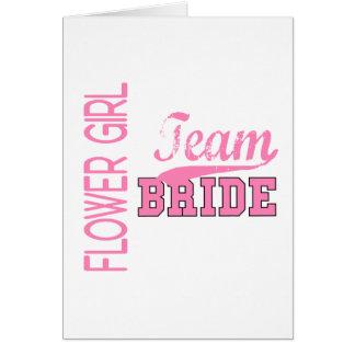 Team Bride 1 FLOWER GIRL Greeting Card