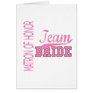 Team Bride 1 MATRON OF HONOR Cards