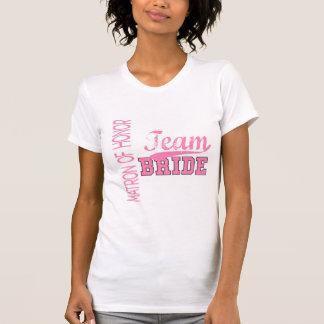 Team Bride 1 MATRON OF HONOR T-Shirt