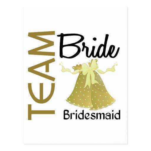 Team Bride 2 Bridesmaid Post Cards
