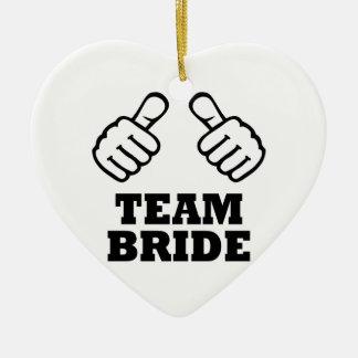 Team bride bachelorette party ornaments