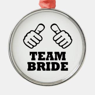 Team bride bachelorette party christmas ornaments
