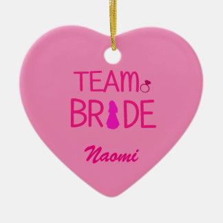 Team Bride - Bachelorette Party Favors Ceramic Heart Decoration