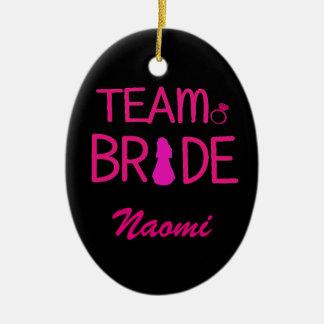 Team Bride - Bachelorette Party Favors Ceramic Oval Decoration