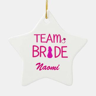Team Bride - Bachelorette Party Favors Ceramic Star Decoration