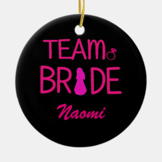 Team Bride - Bachelorette Party Favors Round Ceramic Decoration