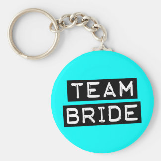 Team Bride Basic Round Button Key Ring