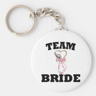 Team Bride Basic Round Button Key Ring
