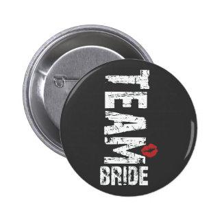 Team Bride Big Grunge Text 6 Cm Round Badge