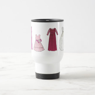 Team Bride Bridal Party Gowns Wedding Date Shower Travel Mug