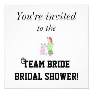 Team Bride Bridal Shower Invitation