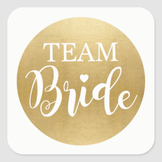 TEAM BRIDE Bridal Shower Stickers Gold Bridal