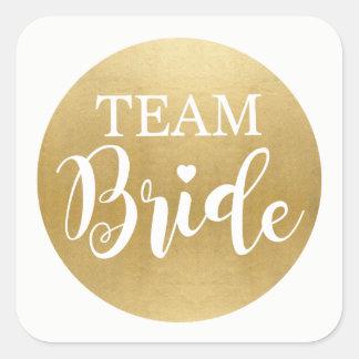 TEAM BRIDE Bridal Shower Stickers Gold Bridal