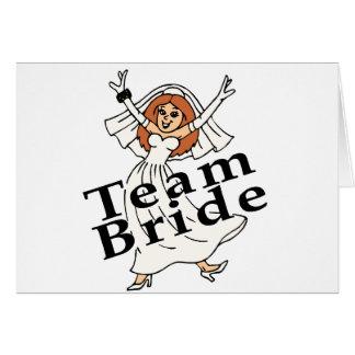 Team Bride Bride Card