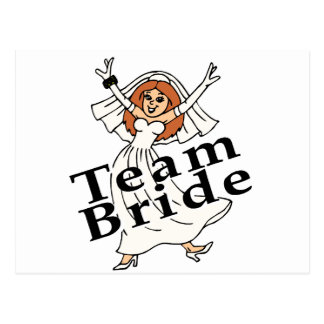 Team Bride Bride Post Cards