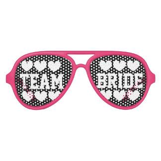 Team bride bridesmaid bachelorette party shades