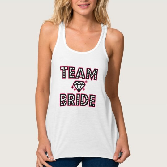 Team Bride Bridesmaid funny women's Bachelorette Tank Top