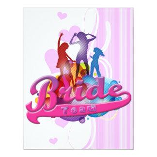 team bride bridesmaids bachelorette wedding bridal 11 cm x 14 cm invitation card