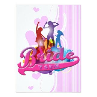 team bride bridesmaids bachelorette wedding bridal 17 cm x 22 cm invitation card