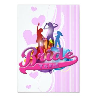 team bride bridesmaids bachelorette wedding bridal 9 cm x 13 cm invitation card