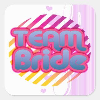 Team Bride Bridesmaids bachelorette wedding party Square Sticker