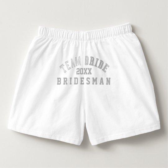 Team Bride Bridesman White Boxer Shorts Boxers