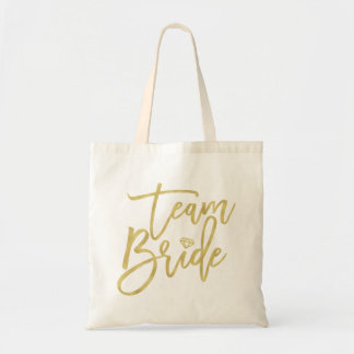 Team Bride Brush Diamond Bridal Party Wedding Bag