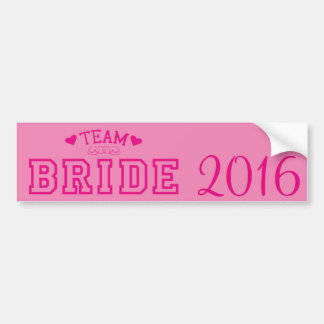 Team Bride Bumper Sticker