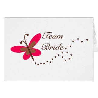 Team Bride butterfly Cards
