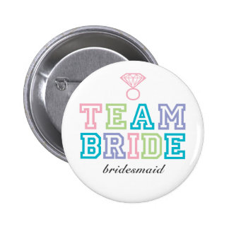 Browse the Team Bride Buttons Collection and personalise by colour, design or style.