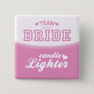 Team Bride Candle Lighter Button