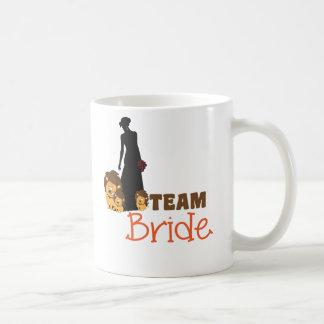 Team bride - cartoon lions basic white mug