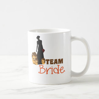 Team bride - cartoon lions coffee mug