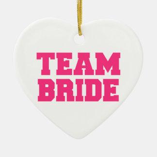 Team Bride Ceramic Heart Decoration