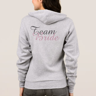 TEAM BRIDE Champagne Wedding Bridesmaid Hoodie