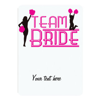 Team Bride - cheerleaders Card