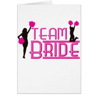 Team Bride - cheerleaders Card