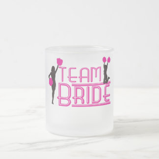 Team Bride - cheerleaders Frosted Glass Mug