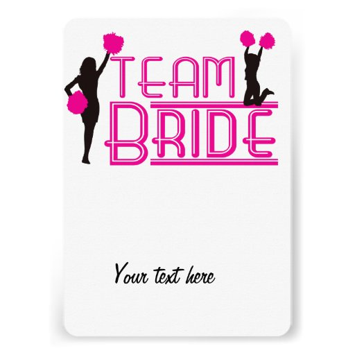 Team Bride - cheerleaders Cards