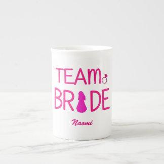 Team Bride - Custom Bridesmaid Gifts Tea Cup