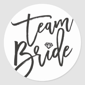 Team Bride Diamond Bridal Party Wedding Stickers